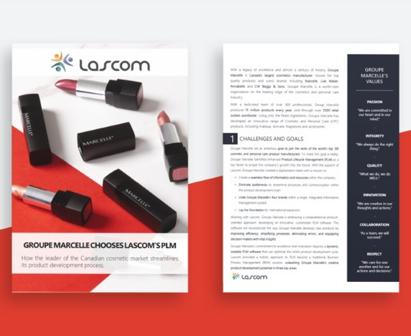 Lascom's cosmetic PLM solution at Groupe Marcelle