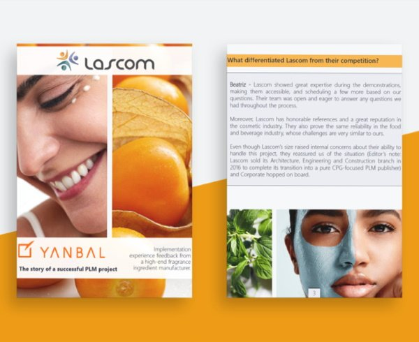 Lascom's cosmetic PLM solution at Yanbal International