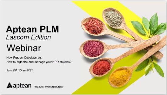 Aptean PLM Lascom Edition: New product development webinar